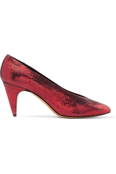 Isabel Marant - Etoile Peas Metallic Textured-leather Pumps