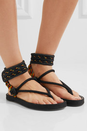 Isabel Marant Étoile Epipa rope and leather sandals
