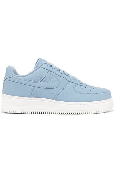 Nike. Air Force 1 perforated leather sneakers