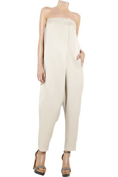 Stella%20McCartney Linen-piquet%20wrap%20jumpsuit