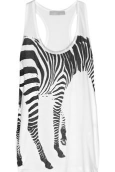 Stella McCartney Zebra-print cotton tank