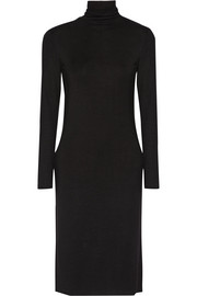 Stretch-jersey turtleneck dress