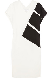 Narciso Rodriguez Paneled silk-blend stretch-jersey dress