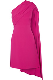 Narciso Rodriguez Draped one-shoulder stretch-silk crepe dress