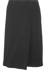 Wrap-effect stretch-crepe shorts