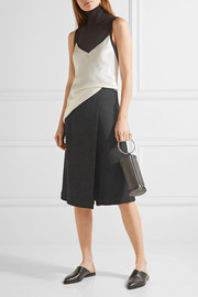 Narciso Rodriguez Wrap-effect stretch-crepe shorts