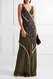Jason Wu Paneled printed silk-georgette gown