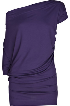 Vivienne Westwood Anglomania Draped jersey asymmetric top