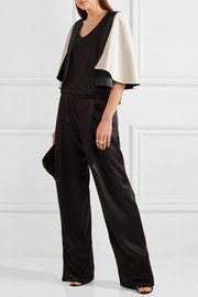Lanvin Cape-effect two-tone satin jacket