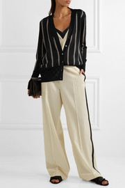 Lanvin Striped knitted cardigan