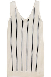 Striped stretch-knit tank