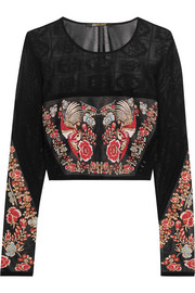 Cropped jacquard top
