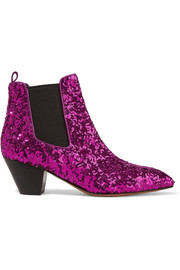 Kim sequined leather Chelsea boots
