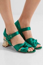 Swarovski crystal-embellished satin sandals