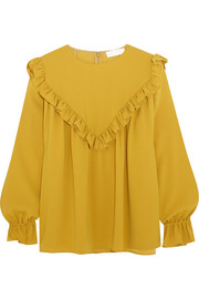Ruffled crepe blouse