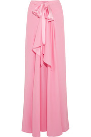 Silk-charmeuse maxi skirt