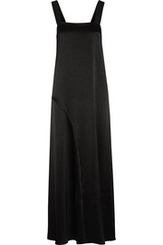Slow Wave grosgrain-trimmed satin-crepe maxi dress