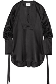 Moon Sisters oversized satin blouse