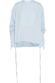Blue Moon cotton-poplin blouse
