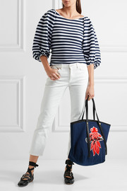 Andy appliquéd denim tote