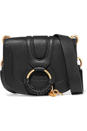 Hana mini textured-leather shoulder bag