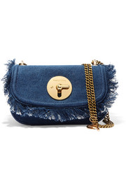 Lois fringed denim shoulder bag