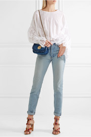 See by Chloé Lois fringed denim shoulder bag