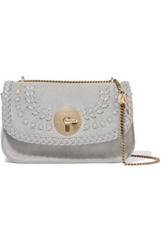 See by Chloé Lois suede and textured-leather shoulder bag