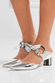 Proenza Schouler Mirrored-leather mules