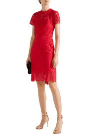 Diane von Furstenberg Alma cutout corded lace dress