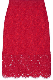 Glimmer corded lace pencil skirt