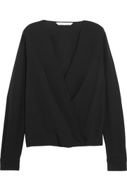 Marci wrap-effect silk-crepe blouse