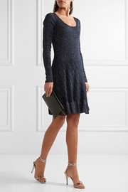 Diane von Furstenberg Perlita metallic stretch-knit dress