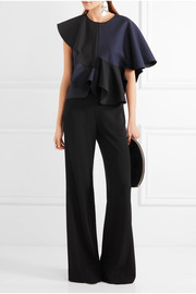 Diane von Furstenberg Preston stretch-crepe wide-leg pants