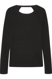 Kylee open-back merino wool and silk-blend sweater