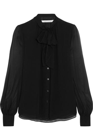 Diane von Furstenberg - Alvanna Pussy-bow Silk-chiffon Blouse - Black