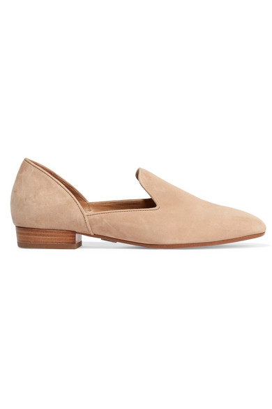 michael kors female 186518 michael kors collection fielding suede loafers beige