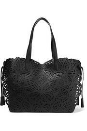 Sophia Webster Liara laser-cut leather tote