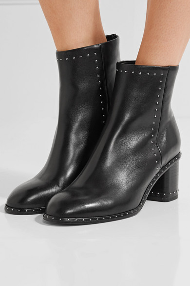 Rag Amp Bone Willow Studded Leather Ankle Boots Net A