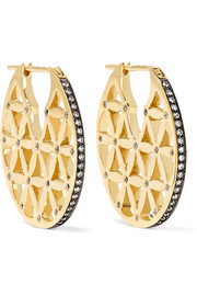 Chandbali 18-karat gold diamond earrings