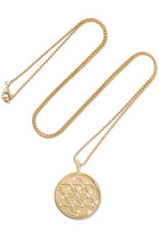 Noor Fares Seed of Life 18-karat gold diamond necklace