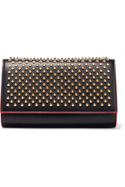 Paloma spiked leather clutch