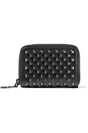 Panettone spiked leather wallet