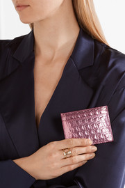 Kios embossed metallic leather cardholder