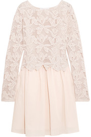 See by Chloé Guipure lace and cotton mini dress