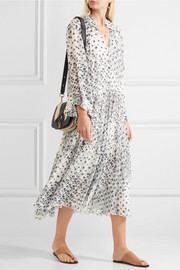 See by Chloé Tiered printed georgette dress