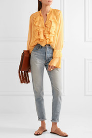 See by Chloé Ruffled crepon blouse