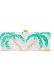 Flavia Palms acrylic box clutch