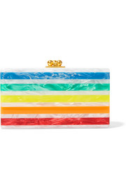 Edie Parker Jean striped acrylic clutch