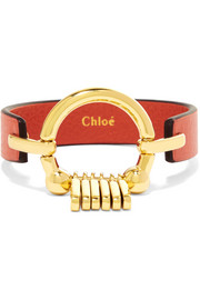Chloé Leather and gold-tone bracelet